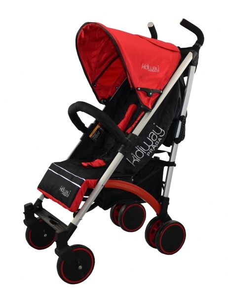 - Reclining back seat - Adjustable harness - Bumper bar - Removable pocket for parents - Storage Basket - Adjustable footrest - Folds for easy storage - A generous sun canopy with flip out sun visor protects baby from the sun rays - Folding lock latch - Brake pedal on rear wheels - Side carrying handle Recommended use: 4 to 36 months, up to 44 lbs (20 kg)