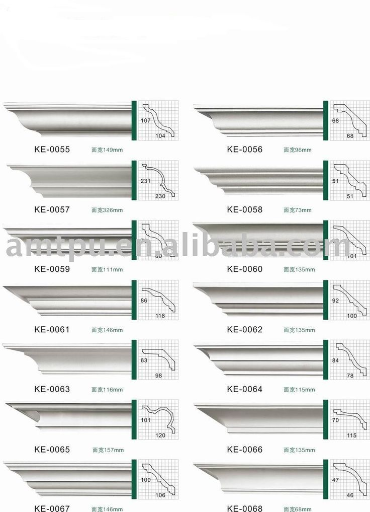 Molding profiles for cornices