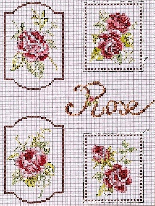 """Belles choses du coeur: couture, décoration et bien plus encore: point de croix: """"étiquettes"""""""