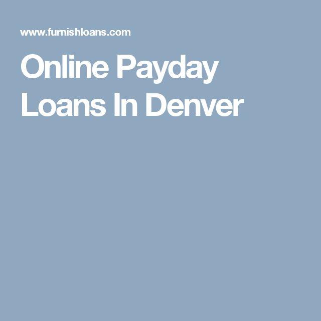 Online Payday Loans In Denver