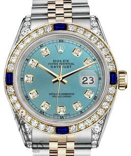 8ef70199ac93 Rolex Women s 31mm Ice Blue Dial with Sapphire   Diamond Bezel Watch -  Tradesy