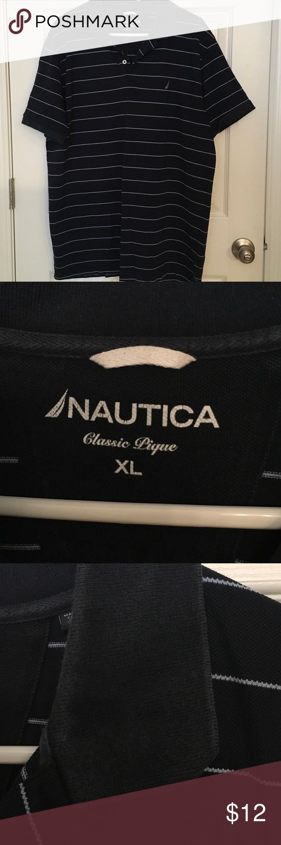 Nautica polo - SALE 4 GUC, slight fading and stain as noted Nautica Shirts Polos