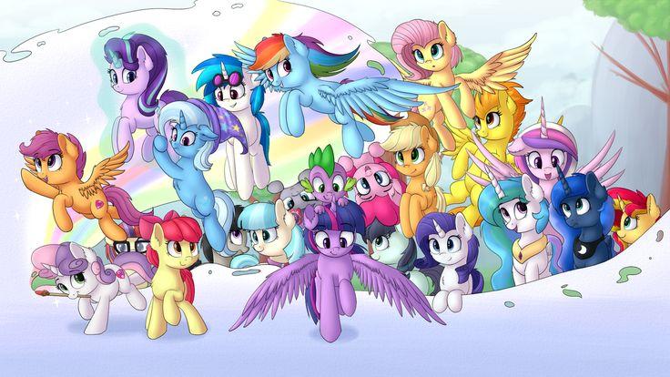#1308520 - alicorn, apple bloom, applejack, artist:vanillaghosties, coco pommel, coloratura, counterparts, cute, cutie mark, cutie mark crusaders, dj pon-3, dragon, earth pony, female, filly, fluttershy, group, male, mane seven, mane six, mare, maud pie, moondancer, octavia melody, pegasus, pinkie pie, pony, princess cadance, princess celestia, princess luna, rainbow dash, rarity, royal sisters, safe, scootaloo, scootaloo can fly, snow, spike, spitfire, starlight glimmer, sunset shimmer…