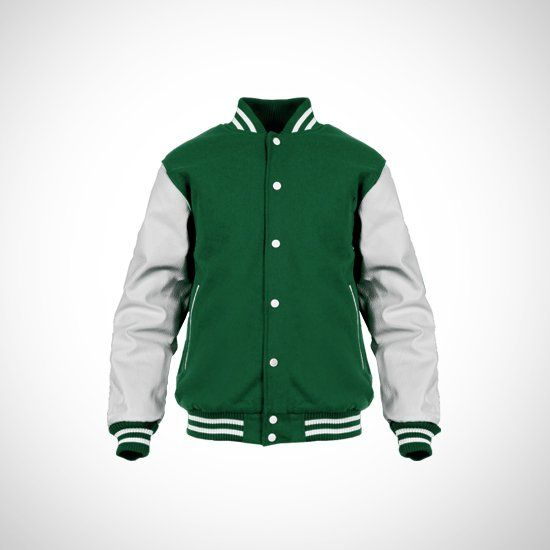 Green Varsity by Basic. Green varsity with a contrast white sleeves, this cool varsity made of a good material, perfect for you who do an outdoor activity, pair this varsity with your t-shirt, jeans and sneakers for a casual style. http://www.zocko.com/z/JHh2i