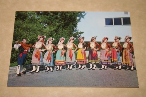 Young Women Traditional Dress Corfu Vintage Postcard