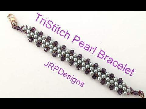 Beading4perfectionists: Prismatic Right Angle Weave (PRAW) stitch beading tutorila - YouTube