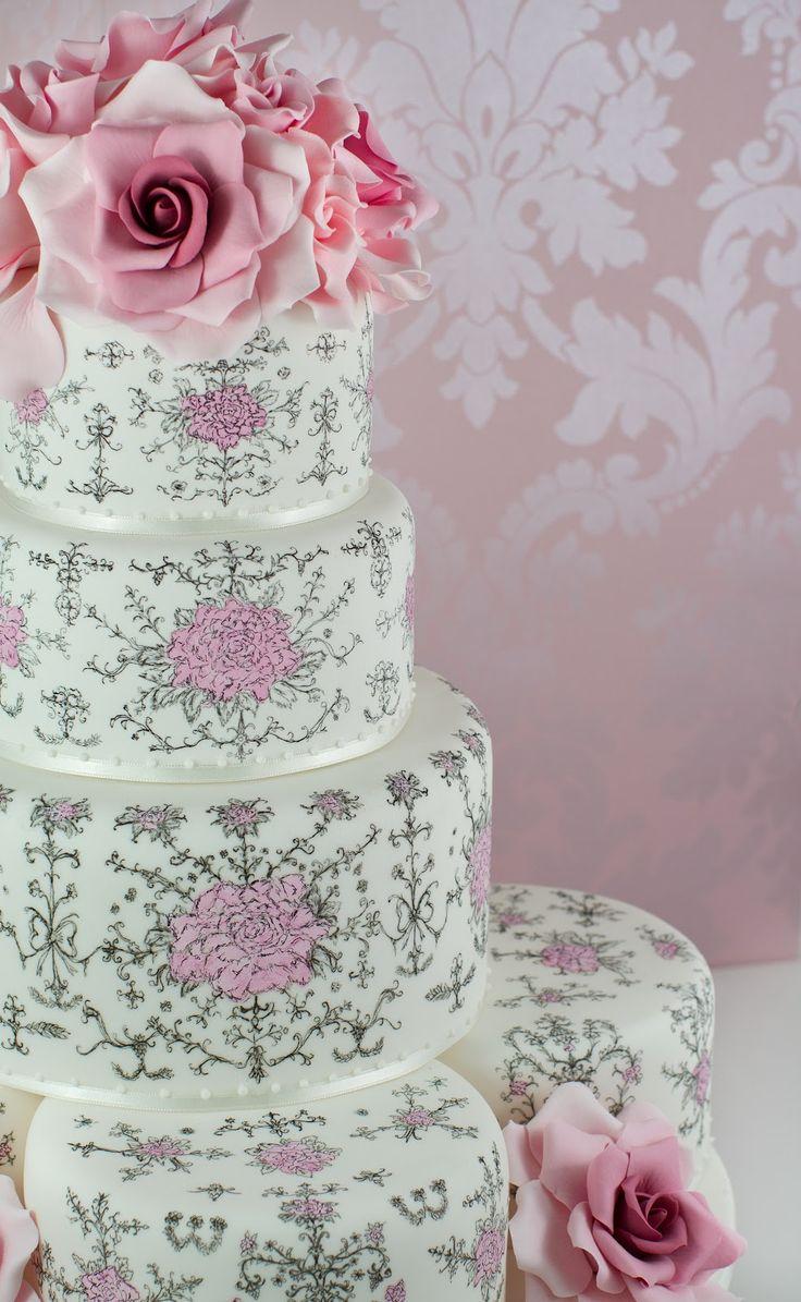 Cakes Haute Couture - Pasteles de Alta Costura. En Barcelona, pintados a mano