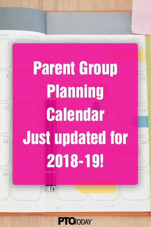 Get Our Pto Today Parent Group Planning Calendar For The 2018 19