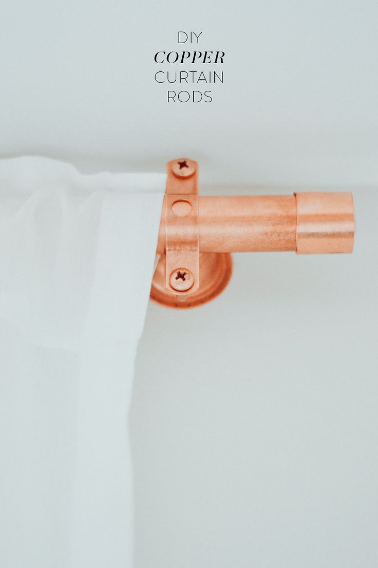 Wooden curtain brackets - Diy Copper Curtain Rods For Under 30 By Gabriella
