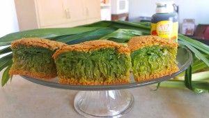 Pandan Honeycomb Cake