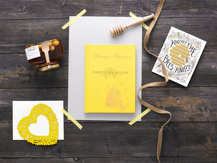 Honey Love $70.00  Honey and Preserves hard cover book by Fortnum & Mason, Maya Sunny Honey 100% raw Macadamia crunch 300g (made in Australia), Beechwood honey dipper