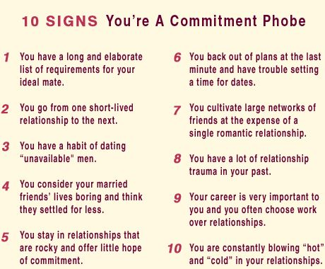 fear of commitment dating