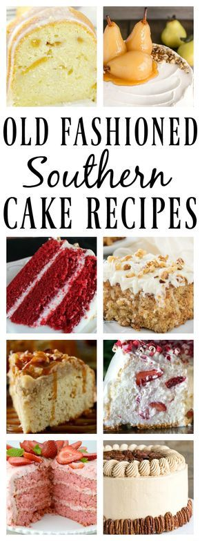 Who doesn't need go to Old Fashioned Southern Cake Recipes? With their unique delicious flavors, and guaranteed crowd pleasing quality, this list has something for any and every one of the occasions in your life!