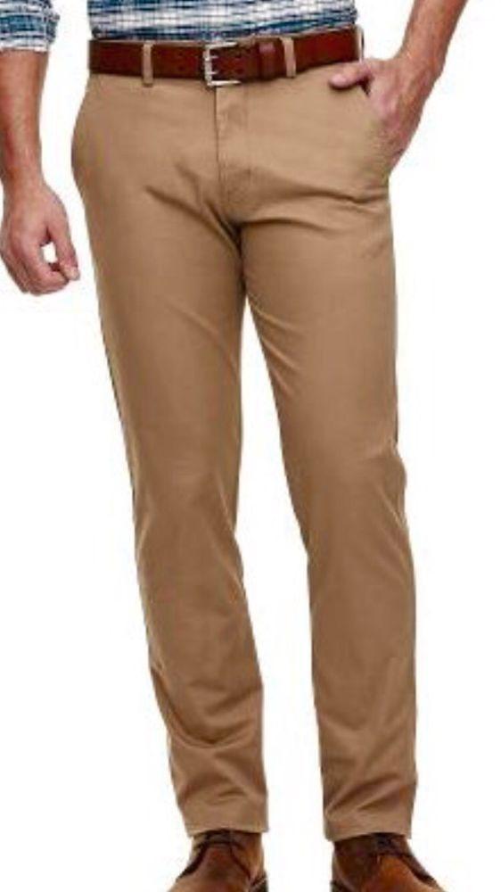 48cbb713b3a Hagger Khaki Cotton Twill Straight Fit Dress #Pants Size 36 X 30 NWT $80  #Haggar #DressFlatFront