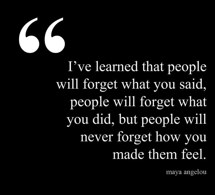 i've learned that people will forget what you said - Google Search