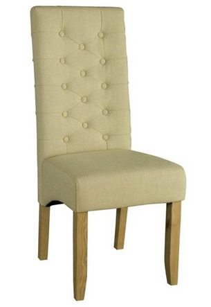 Pair of Natural Linen Chairs - £195.00 - Hicks and Hicks