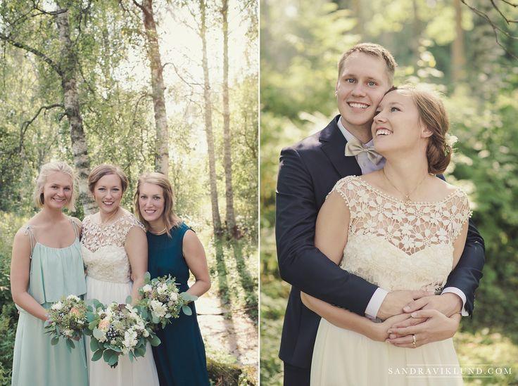 Wedding portraits forest