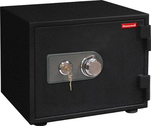 Honeywell 2102 0.55 Cubic Feet Water Resistant Steel Fire and Security Safe by Honeywell. $187.62. From the Manufacturer                This Honeywell 2102 water resistant steel security safe features a 1 hour fire rating - 1700/927 degrees C, with a 0.55 cubic feet storage capacity, , dual dial and key lock protection, and double steel wall construction which gives you additional protection against theft. The Honeywell safe product line provides safety and security for...
