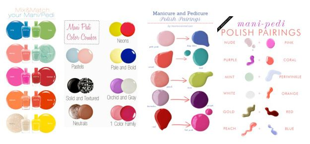 manicure and pedicure polish pairings