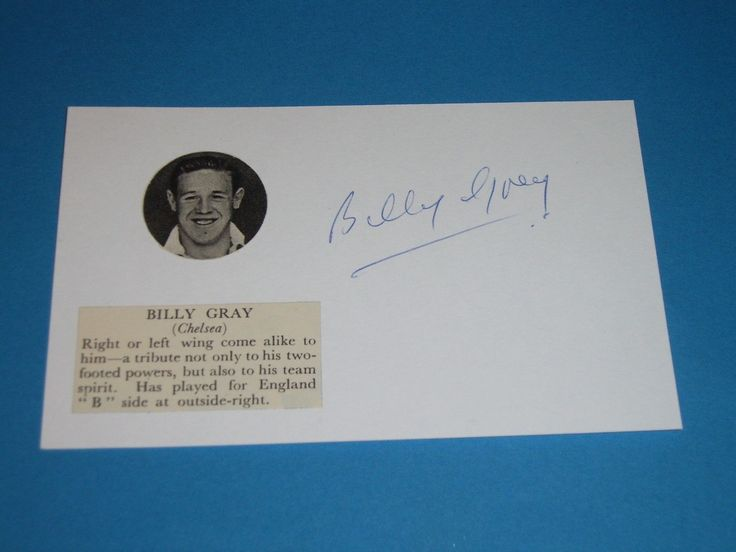 Billy gray leyton #orient, #chelsea,nottingham #forest,millwall,brentford,notts c,  View more on the LINK: http://www.zeppy.io/product/gb/2/162323504421/