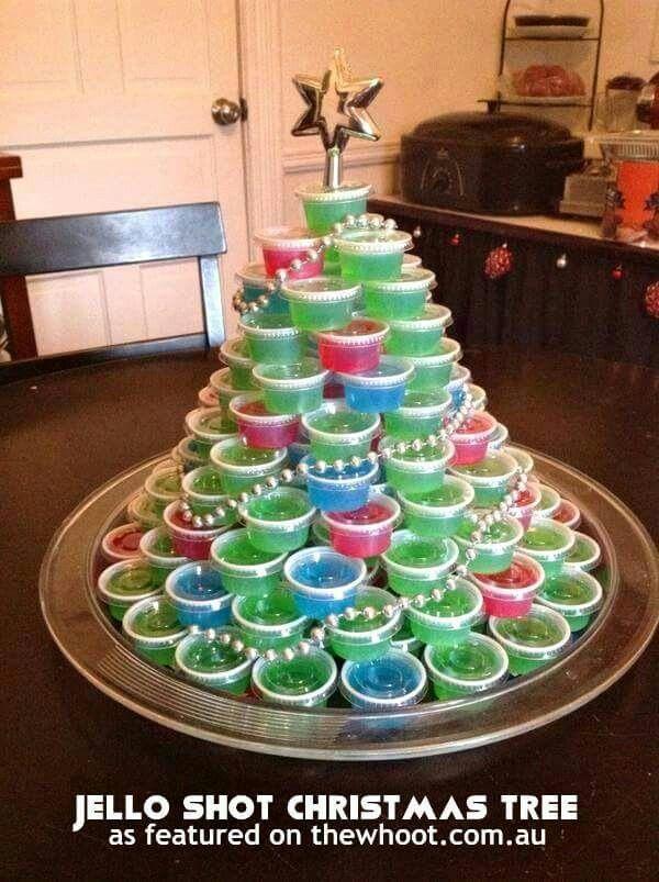 Jello-O shot Christmas Tree...genius!