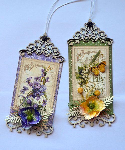 Stunning Secret Garden Tag Set by Karen #graphic45 #tags