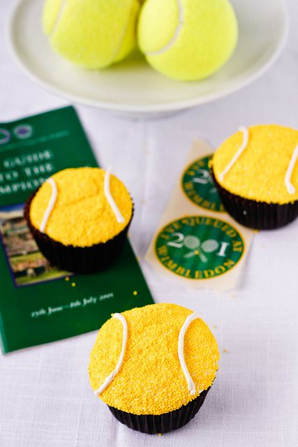 Game, Set, Match Cupcakes by TreatsSF, via Flickr