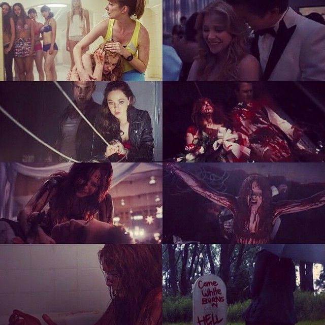 Carrie La vengeance   with #Ansel Elgort #ChloeMoretz ❤ i love This movie
