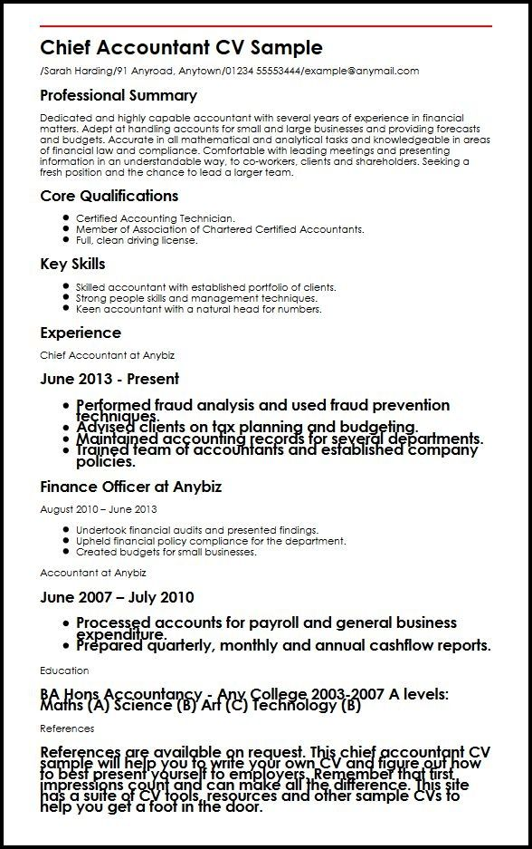 Cool Chartered Accountant Cv Template Picture Accountant Cv