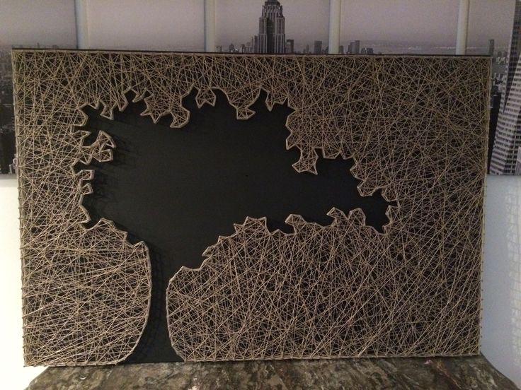 """Tableau fils tendu """"String Art"""" : Autres art par pedro-039-s-diy-factory"""