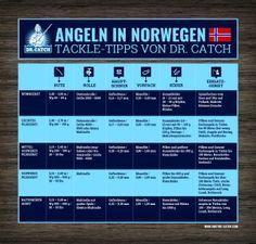 Ausrüstung zum Angeln in Norwegen: Rute, Rolle, Schnur, Vorfach
