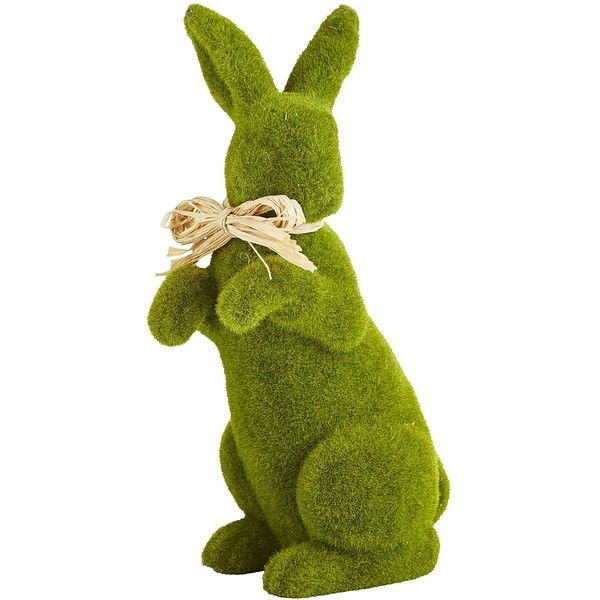 Pier 1 Imports Green Standing Moss Bunny ($30) ❤ liked on Polyvore featuring home, home decor, holiday decorations, green, easter home decor, pier 1 imports, camouflage home decor, handmade home decor and bunny home decor