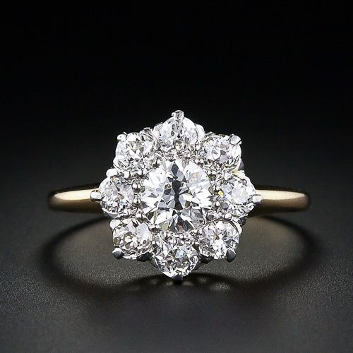 Victorian Diamond Cluster Engagement Ring--idk why Im so drawn to vintage rings lately but holy. crap.