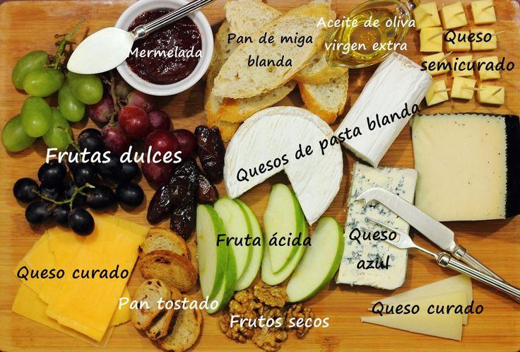 Cómo preparar una tabla de quesos con todos los elementos necesarios y cuidando todos los detalles para disfrutarla al máximo.