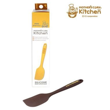 Mother's Corn Silicone Spatula is a non-scratch and non-stick cookware made for convenience. It is all-silicone, stain-resistant, non-abrasive and compact in size. The silicone blade is compact enough to stir in a smaller saucepan and therefore, it is ideal for cooking a baby sized meal.