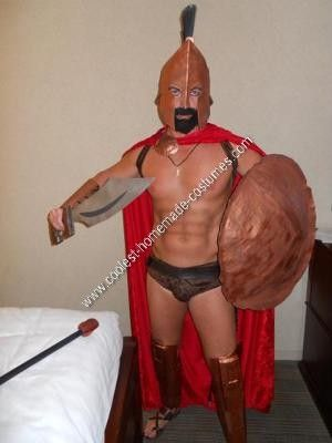 Homemade Leonidas King of Sparta Costume: After looking online for appropriate armor and helmet I was unimpressed and decided to make my own homemade Leonidas King of Sparta costume. Using pieces