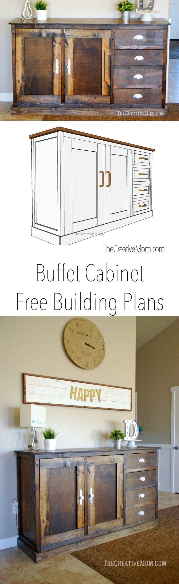 DIY Buffet Cabinet | Free Building Plans via The Creative Mom