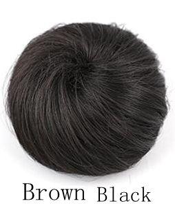 Hair chignon synthetic hair bun hairpiece color of Brown Black chignon bun hairpiece