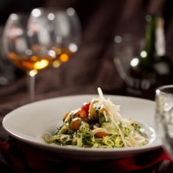 Tagliatelle with Prawns and Spinach by  Abitabile Vincenzo.