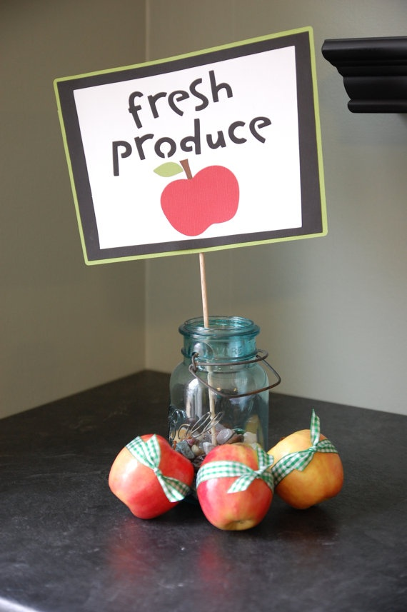 Fresh Produce Farm Party Decorations Barnyard Theme by GiggleBees, $12.00
