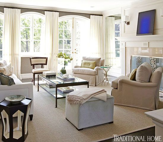 Simplified living in an elegant california home