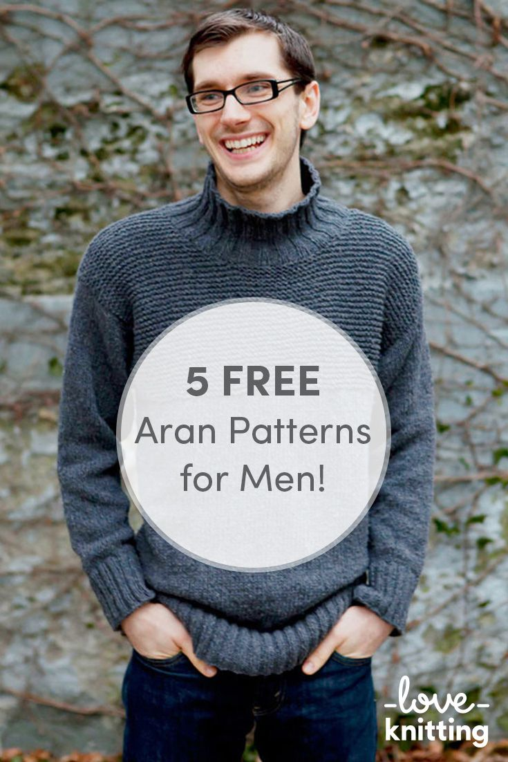 95ea52b3a04b7 Top 5 Free Aran Jumper Knitting Patterns for Men. The iconic fisherman s  jumper