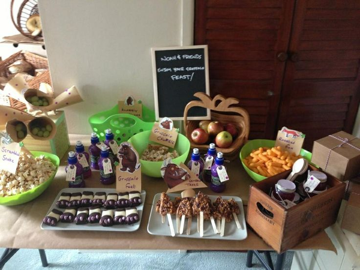 Gruffalo feast... Gruffalo party