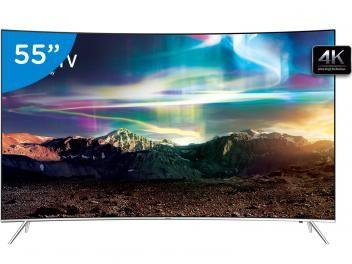 """Smart TV Curva 55"""" Samsung 4K Ultra HD UN55KS7500 - Conversor Digital 4 HDMI 3…"""