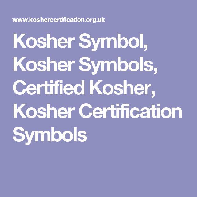 Kosher Symbol, Kosher Symbols, Certified Kosher, Kosher Certification Symbols