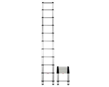 The Telesteps Telescopic Extension ladder easily extends into a full size ladder in just seconds. Perfect for RVs and campers where space it tight. 14' - 250 lbs. max working load
