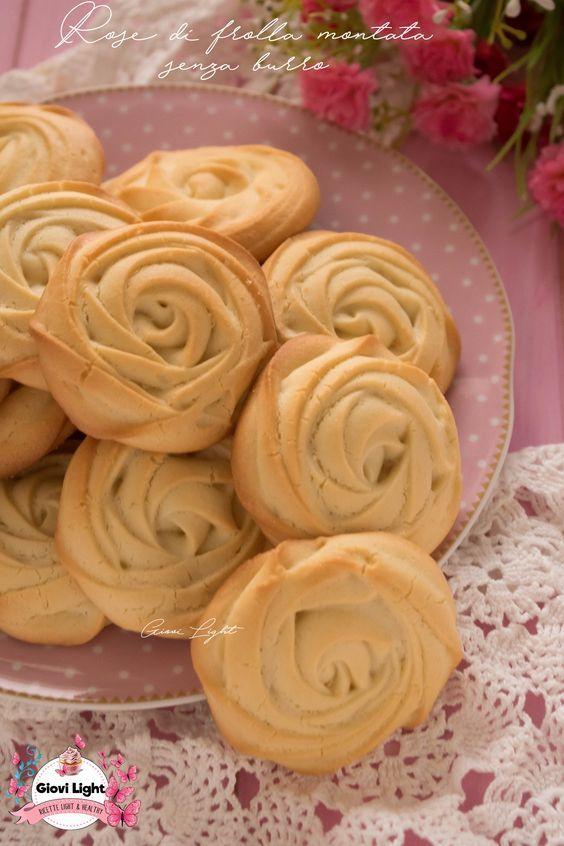 Rose di frolla montata senza burro