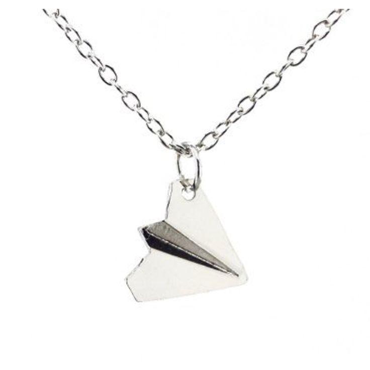 Fashion Simple One Direction Smooth Comfy Paper Airplane Chain Pendant Jewelry Unisex Fashion Casual Neutral Necklace NL-0084