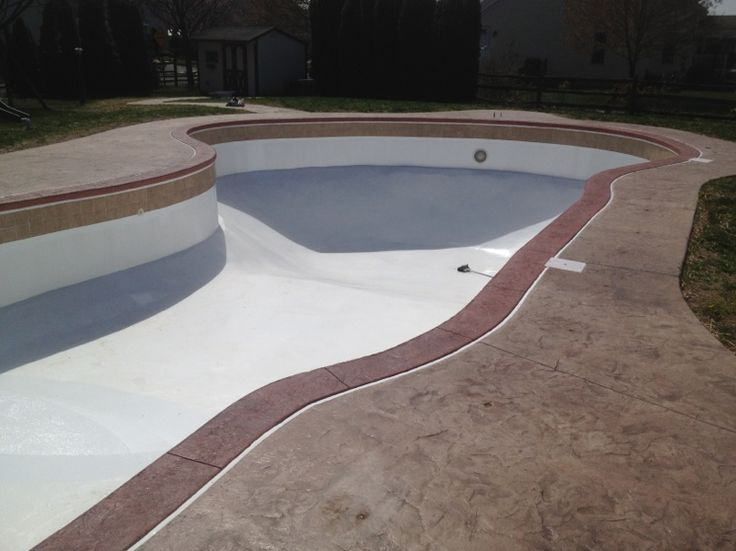 Concrete Pool Coping Inground Swimming Pool Repair Renovation And Vinyl Liner Replacement
