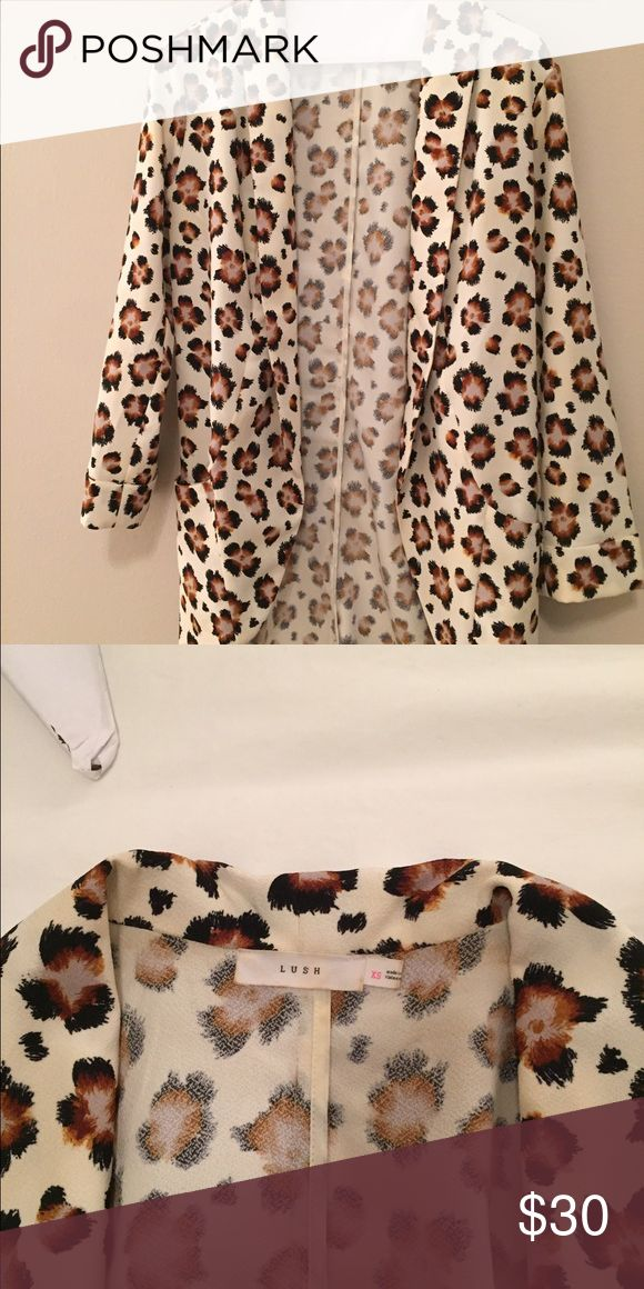Leopard blazer Extra small leopard blazer Lush Jackets & Coats Blazers